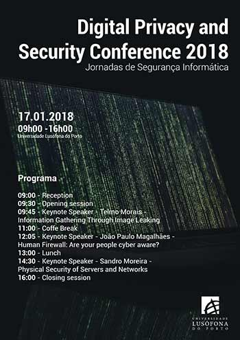 Digital Privacy and Security Conference 2018